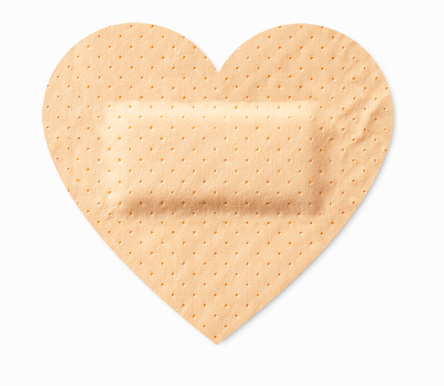 Sticking-plaster heart